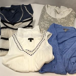 BUNDLE 5 FOR $22 KNIT TOPS TALBOTS + MORE